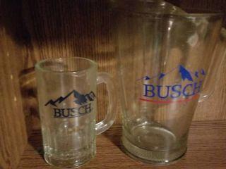 Busch Pitcher  Glass