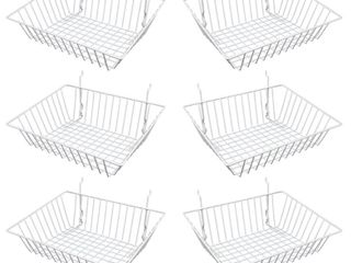 Metal Organization Baskets  Set of 6    Retail   35 96