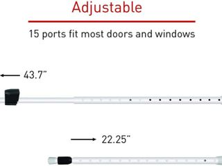 Security Man Adjustable Door and Window Security Bar 2 Pack   Retail   36 99