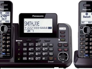 Panasonic 2 line Cordless Phone System with 2 Handsets   Answering Machine  link2Cell  3 Way Conference  Call Block  long Range DECT 6 0  Bluetooth   KX TG9542B  Black    Retail   120 00