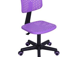 GreenForest Children Student Chair  low Back Armless Adjustable Swivel Ergonomic Home Office Student Computer Desk Chair  Hollow Star Purple Retail   59 99