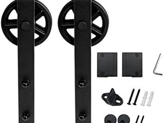 WINSOON Sliding Barn Door Hardware Hangers 2pcs   Black Retail   45 99