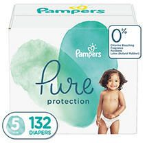 Pampers Pure Disposable Diapers One Month Supply   Size 5  132ct    Retail  52 49