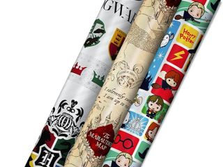 Hallmark 2 Rolls Harry Potter Wrapping Paper   Retail   11 99