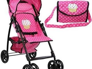 Mommy  amp  Me Stroller Mommy  amp  Me Doll Stroller Foldable Umbrella Doll Stroller with Basket  Swiveling Wheels NO PURSE  Retail   45 99