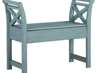 Heron Ridge Accent Bench Blue   Signature Design by Ashley   Retail   118 99