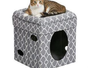 MidWest 2 Story Cat Cube  Geometric Gray  17    Retail 33 99