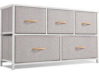 Cubiker Dresser Storage Organizer  5 Drawer Dresser Tower  White   Retail  67 99