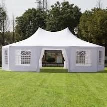 BOX 4 4 Outsunny large 10 wall Event Wedding Gazebo Canopy Tent  29 x20  Retail 586 99