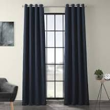 PAIR OF  Porch   Den limpus Faux linen Grommet Top Blackout Curtain Panel