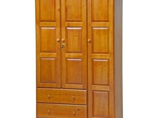 BOX 1 3  100  Solid Wood Grand Wardrobe 5694 by Palace Imports  Honey Pine Color