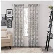 PAIR OF 84 Inches   Charcoal  Gracewood Hollow Dumas Window Curtain Panel