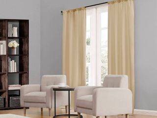 PAIR OF Eclipse Kendall Blackout Window Curtain Panel