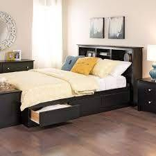 Box 1 IJ Black Full Mate s 6 drawer Platform Storage Bed  Retail 416 49