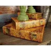 Copper Grove Fontana Old World Decorative Wood Book Box  Set of 3