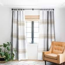 PAIR OF Holli Zollinger French Tassel Blackout Curtain Panel Retail 153 44