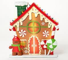 Mr  Christmas Oversized Scenic Illuminated Blow Mold Gingerbread