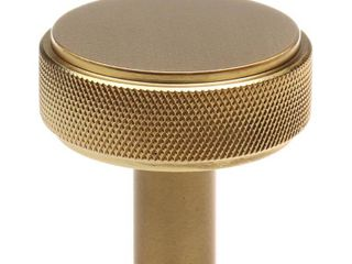 GlideRite 1 1 2 in  Solid Round Knurled Cabinet Knob  Satin Gold  Pack of 10