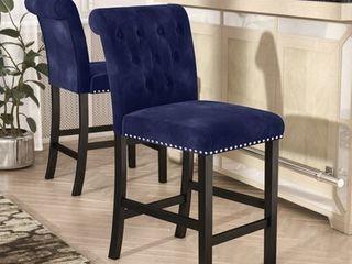 Pair of Erling 26 inch Bar Stool Upholstery  Ink Navy