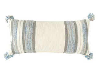 3R Studios Striped Cotton Blend Decorative Pillow with Tassels