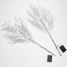 Bethlehem lights Set of 2 Glitter Sprigs with Color Change Silver