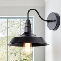 Nikolas 1  light Dimmable Barn light Matte Black