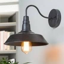 Nickolas 1 light Dimmable Barn light Matte Black