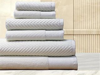 Elegance Spa 100 percent Cotton Jacquard 6 piece Towel Set