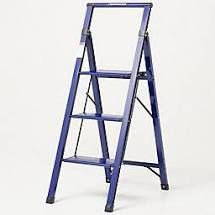 Empower Ultraslim 4 Step lightweight ladder Navy Blue