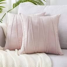 SET OF 4 leatherman Chevron Throw Pillow Covers Baby Pink