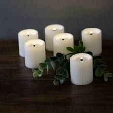 Martha Stewart Flameless led Votive Candles Ivory With Batteries 6 Piece Set