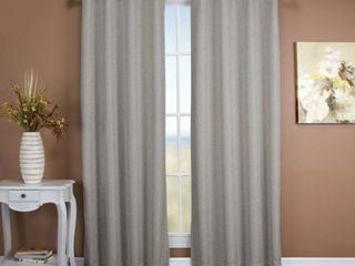 PAIR OF Ricardo Tacoma Double Blackout Grommet Top Curtain Panel   Stone 45  long