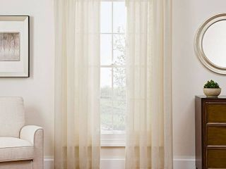 PAIR OF Sharper Image Sonoma 53  x 108  Rod Pocket Window Panel