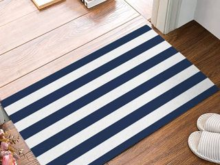 Farmhouse Spice Stripes Floor Mat 18  x 27