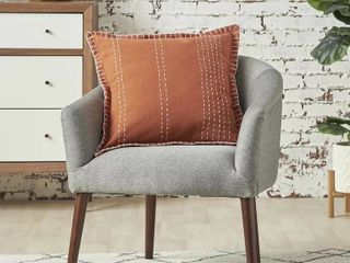 Eustace Square Cotton Pillow Cover and Insert Rust