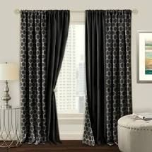 Pair of Ormes Reversible Geometric Blackout Rod Pocket Curtains