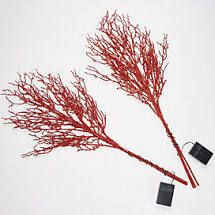 Bethlehem lights Set of 2 Glitter Sprigs with Color Change Red