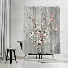 PI Creative Art Delicate Pink Blooms Single Shower Curtain
