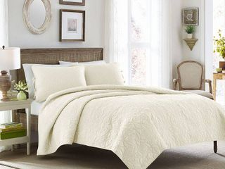 KING SIZE Felicity Quilt And Sham Set Ivory   laura Ashley