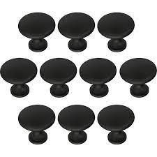 Set of 10 Garrett 1 1 4in Diameter Mushroom Knob Black