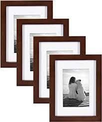 Set of 4 Complete Solid Poplar Wood Picture Frames