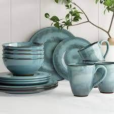 Toren Denim 16 Piece Dinnerware Set