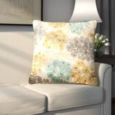 Pinto Square Cotton Floral Throw Pillow 18inch
