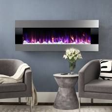Quesinberry Wall Mounted Electric Fireplace   20 H x 54 W x 5 5 D