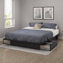 Mosley Storage Platform Bed Grey Oak Queen