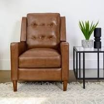 Mary Genuine leather Manual Recliner Camel Genuine leather
