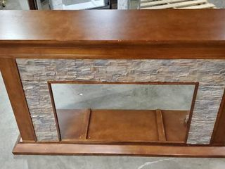 Copper Grove Horse Mountain 60 inch Simulated Stone Fireplace Mantle   Retail 825 99