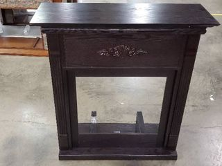 Black Wooden Electric Fireplace Mantle  Scratched Top