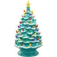Mr  Christmas 24 in Oversized Plug in Nostalgic Tree Teal
