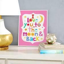 Stella Pink I love You To The Moon and Back Wall Decor